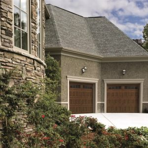 """1-3/8"""" insulated medium-duty garage door with traditional or carriage house styling"""