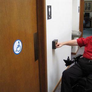 AODA Automatic Door Washroom System
