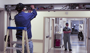 hospital automated door maintenance